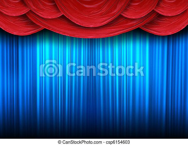 ステージ, カーテン, 現代 - csp6154603