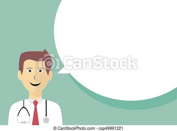 スピーチ泡, 医者 - csp49991221