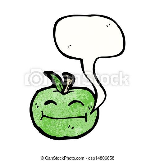 スピーチ泡, 漫画, アップル - csp14806658