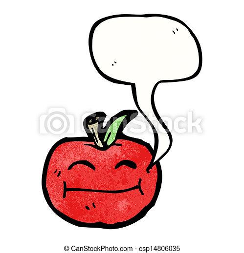 スピーチ泡, 漫画, アップル - csp14806035