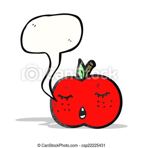 スピーチ泡, 漫画, アップル - csp22225431