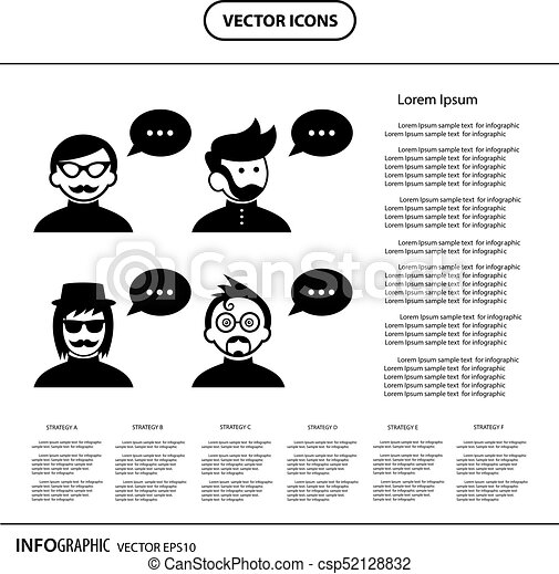 スピーチ, 特徴, 泡, 漫画 - csp52128832