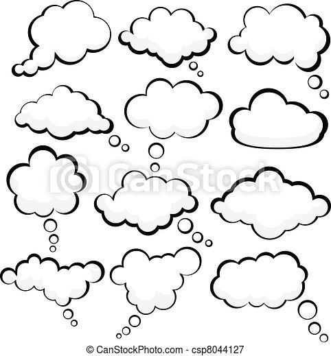 スピーチ, clouds. - csp8044127