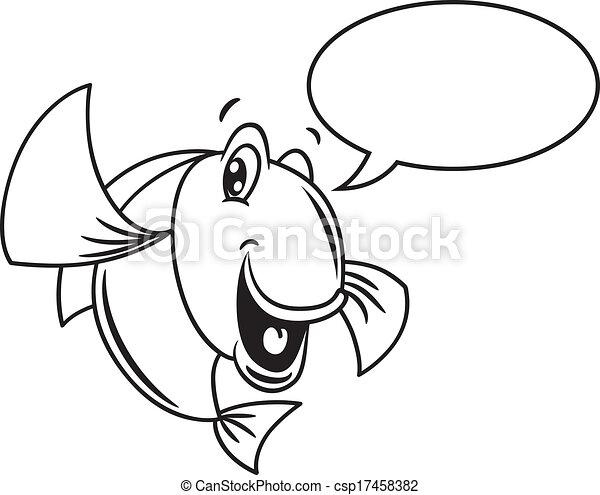 スピーチ, fish, 泡, 漫画 - csp17458382