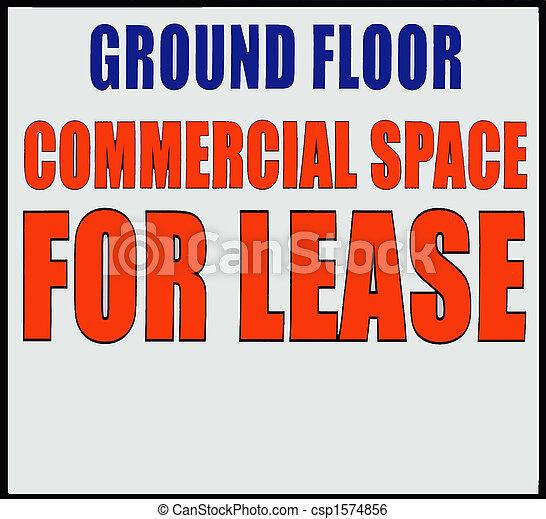 スペース, コマーシャル, 借りなさい - csp1574856