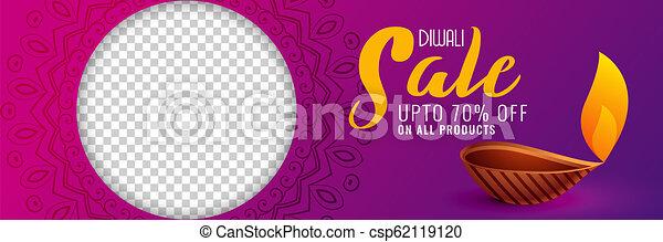 スペース, diwali, セール, 流行, 旗, イメージ, 幸せ - csp62119120