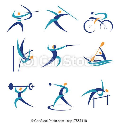 スポーツアイコン, オリンピック - csp17587418