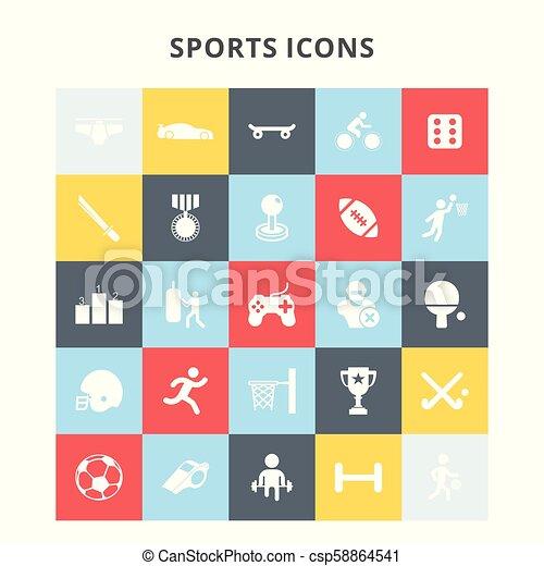 スポーツアイコン - csp58864541