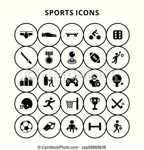 スポーツアイコン - csp58869636