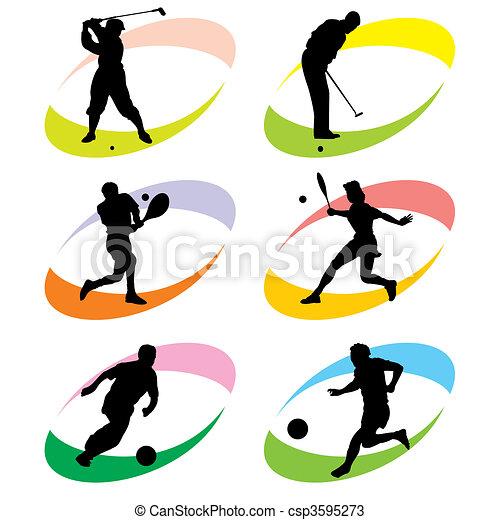 スポーツ, アイコン - csp3595273