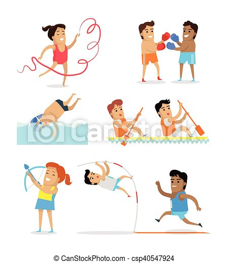スポーツ, セット, アイコン - csp40547924