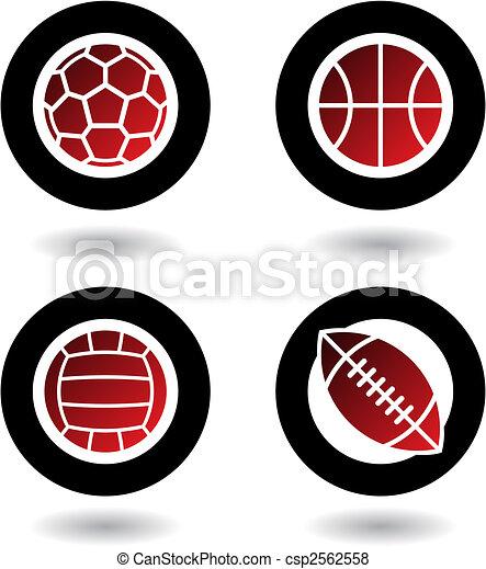 スポーツ, ボール, アイコン - csp2562558