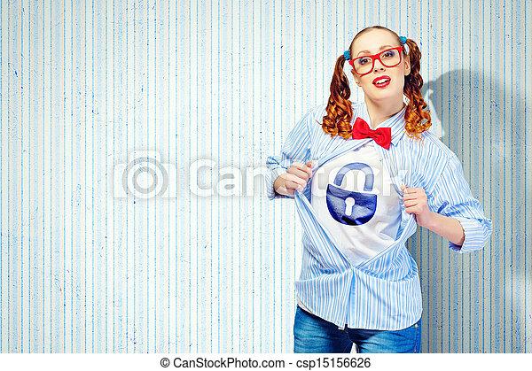 スーパーヒーロー, 女, 若い - csp15156626