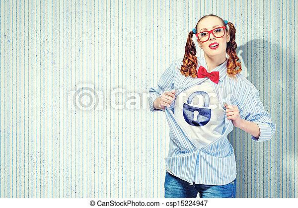 スーパーヒーロー, 女, 若い - csp15224947