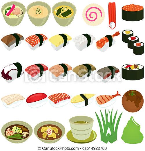スープ, -, 料理, 日本語, 寿司 - csp14922780