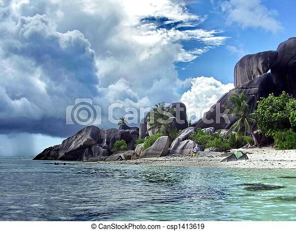 セイシェル, 浜 - csp1413619
