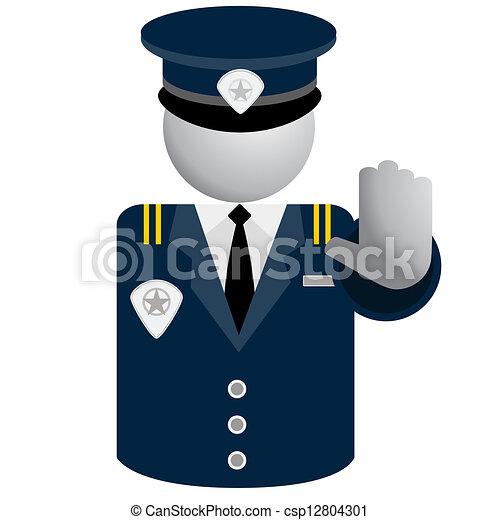 セキュリティー, 警察, アイコン - csp12804301