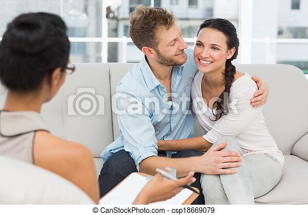 セッション, 恋人, 和解, 療法, 幸せ - csp18669079