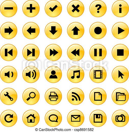 セット, アイコン, アプリケーション, 網 - csp8691582