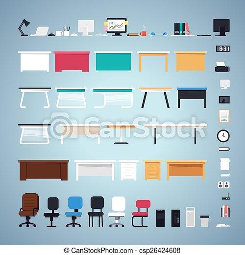 セット, オフィス家具 - csp26424608