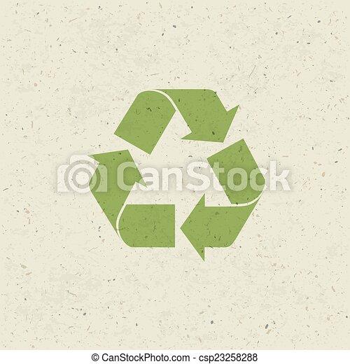 セット, シンボル, ペーパー, リサイクルされる, ベクトル, デザイン, texture. - csp23258288