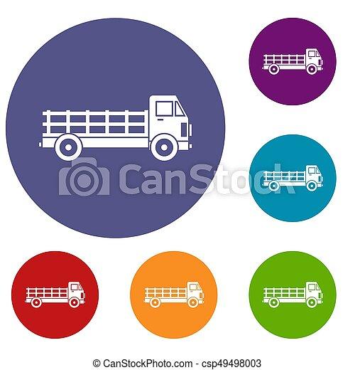 セット, トラック, アイコン - csp49498003