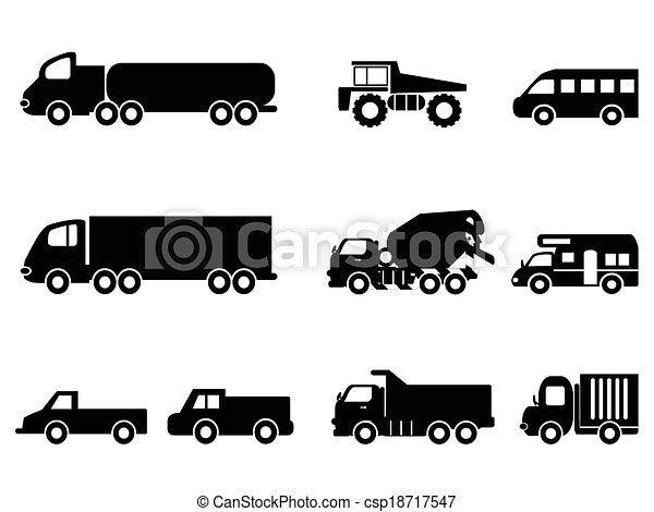 セット, トラック, アイコン - csp18717547