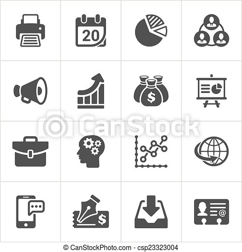 セット, ビジネス アイコン, 経済学, ベクトル, 最新流行である, 2. - csp23323004
