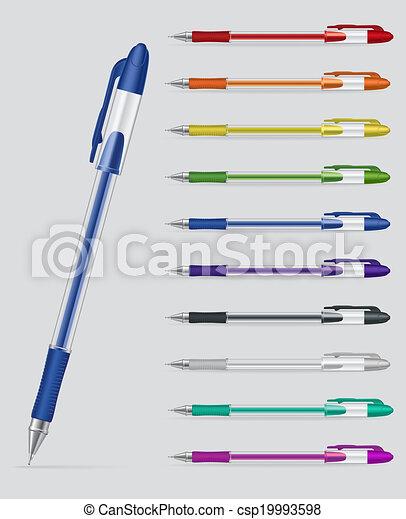 セット, ペン, ゲル - csp19993598