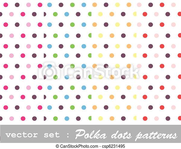 セット, ポルカドット - csp6231495