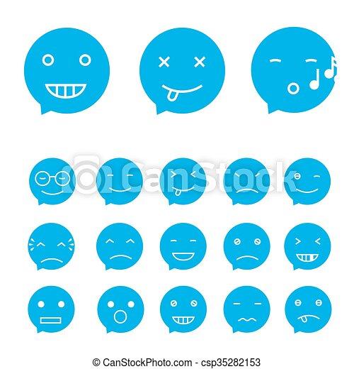 セット, 微笑, ベクトル - csp35282153