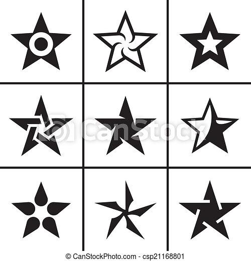 セット, 星, アイコン - csp21168801