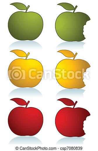 セット, 色, りんご - csp7080839