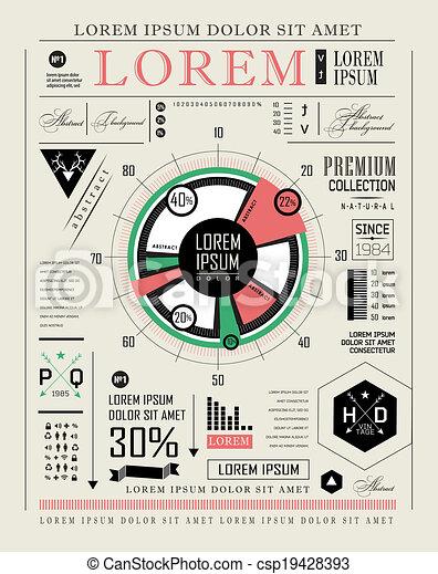 セット, 要素, infographics - csp19428393