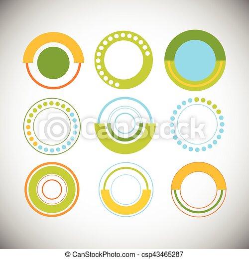セット, 財政, 金融, ビジネス, グラフ, パイ, 図, infographic, 円 - csp43465287