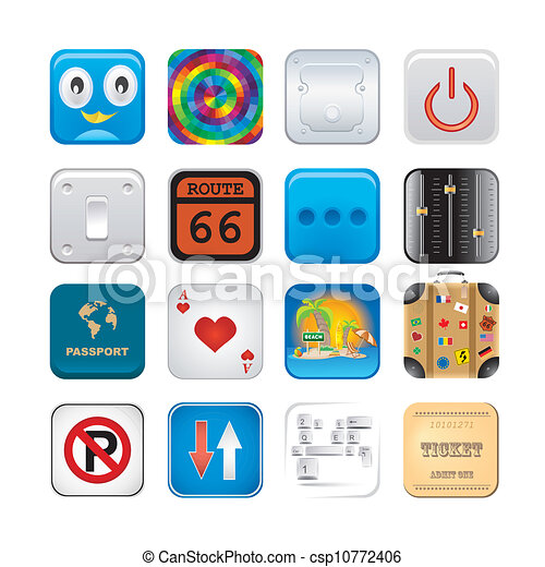 セット, apps, 6, アイコン - csp10772406