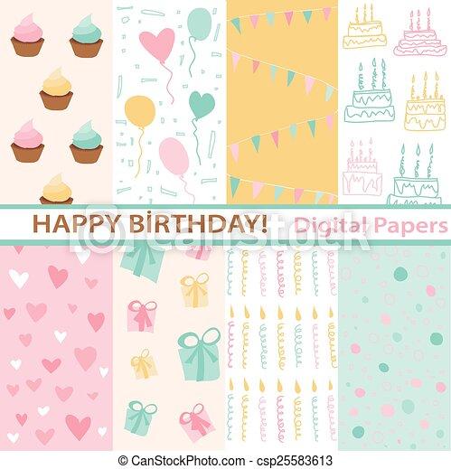 セット, birthday - csp25583613
