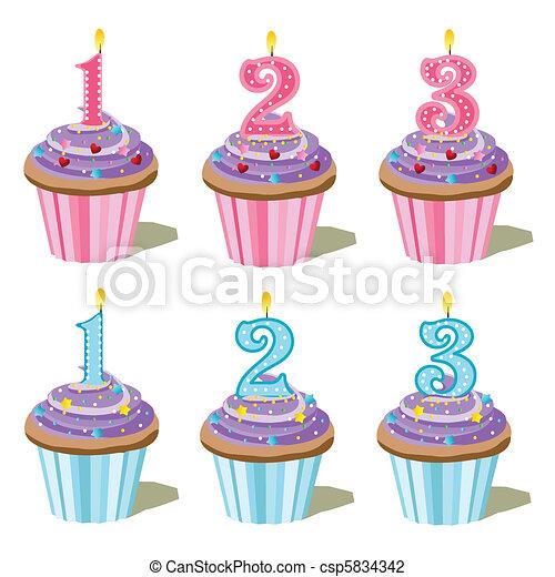 セット, cupcake - csp5834342