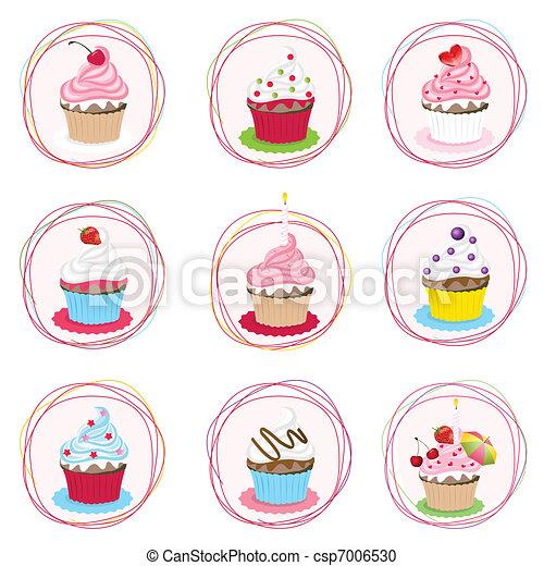 セット, cupcake - csp7006530