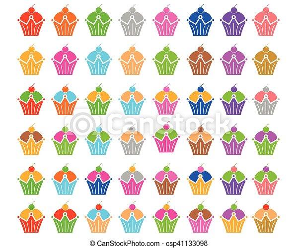 セット, cupcake - csp41133098