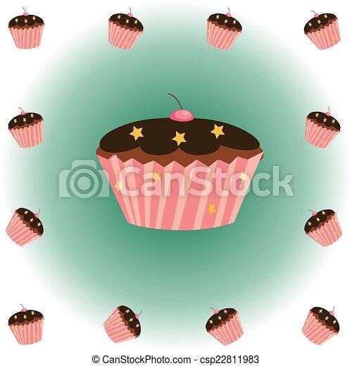 セット, cupcake - csp22811983
