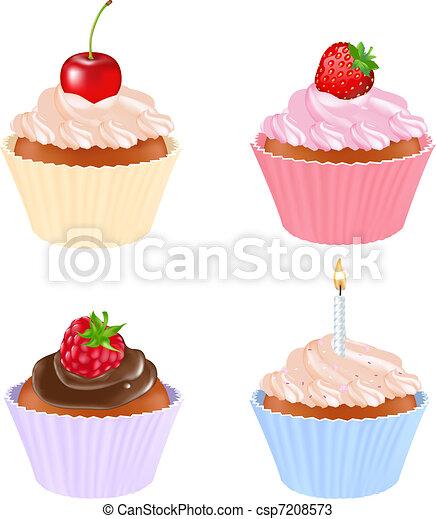 セット, cupcake - csp7208573