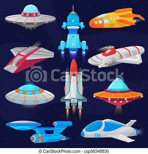 セット Spaced ロケット スペース 宇宙 Ufo 隔離された イラスト