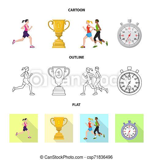 セット, stock., 勝者, シンボル。, ビットマップ, デザイン, フィットネス, スポーツ, アイコン - csp71836496