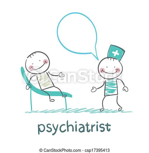 ソファー, 言う, 患者, あること, 精神科医 - csp17395413