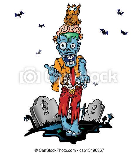 ゾンビ, 狂気, 漫画 - csp15496367