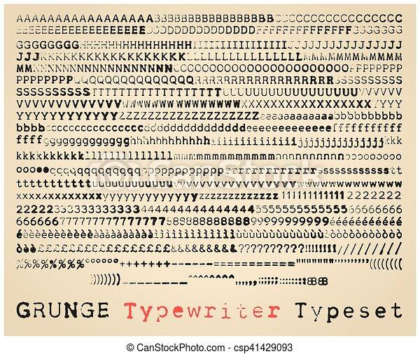 フォント タイプ ライター
