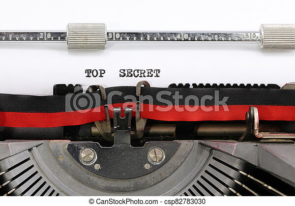 タイプライター, トップの秘密, テキスト - csp82783030