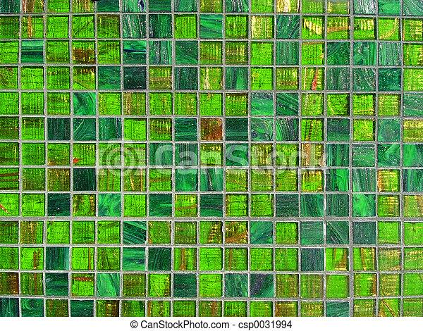 タイル, 緑 - csp0031994
