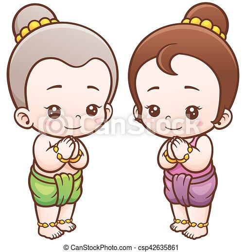 タイ人, 子供 - csp42635861